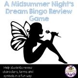 A Midsummer Night's Dream Bingo Review Game