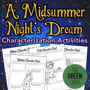 A Midsummer Night's Dream Characterization Activity, Worksheets