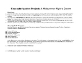A Midsummer Night's Dream Characterization Project