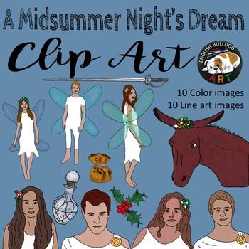 A Midsummer Night's Dream Clip Art Set