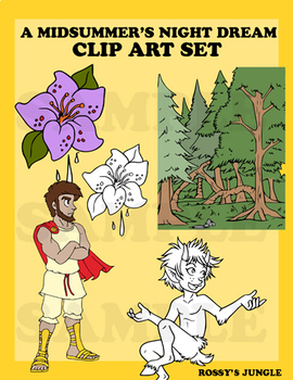 A Midsummer Night's Dream Clip Art set