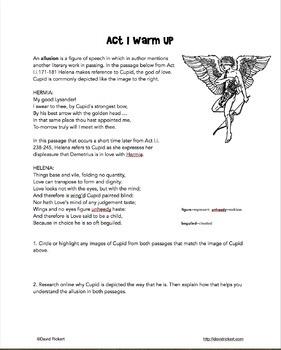 A Midsummer Night's Dream: Comics and Activities