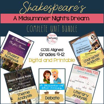 Shakespeare's-A Midsummer Night's Dream-Unit BUNDLE