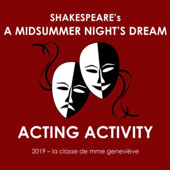 A Midsummer Night's Dream - DRAMA ACTIVITY