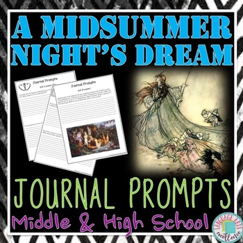 A Midsummer Night's Dream Do-Now Journal Prompts