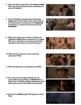 A Midsummer Night's Dream Film (1999) Study Guide Movie Packet