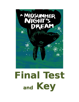 A Midsummer Night's Dream Final Test and KEY  COMMON CORE