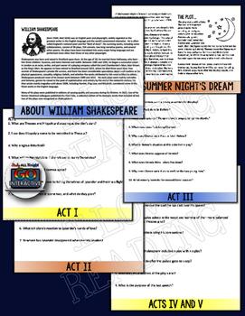 A MIDSUMMER NIGHT'S DREAM WILLIAM SHAKESPEARE LITERATURE GUIDE FLIP BOOK