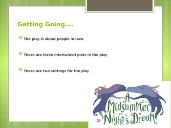 A Midsummer Night's Dream ~ Introduction POWERPOINT