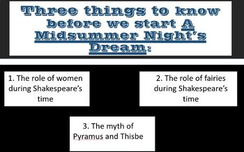 A Midsummer Night's Dream Introduction through the use of Nonfiction Articles