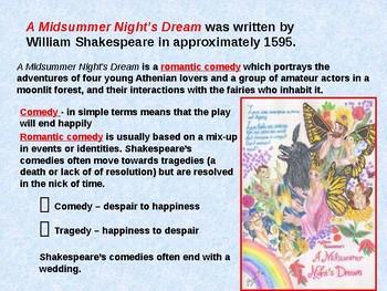 A Midsummer Night's Dream Materials