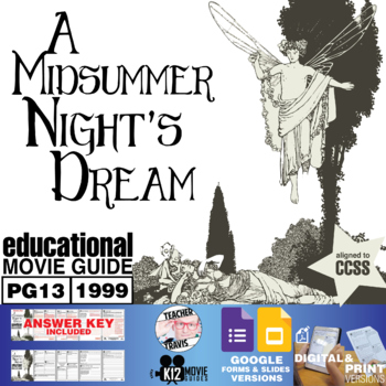 A Midsummer Nights Dream Study Guide Teaching Resources Teachers