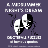 A Midsummer Night's Dream - Quotefall puzzles