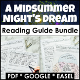 A Midsummer Night's Dream Reading Guide Bundle With Google