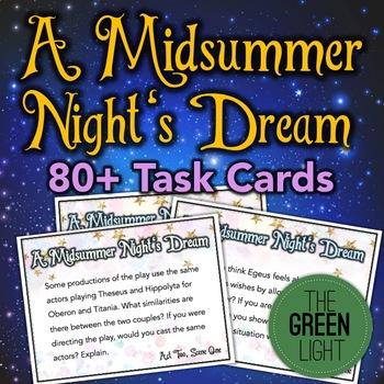 A Midsummer Night's Dream Task Cards: Bell-ringers, Activities