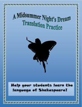 A Midsummer Night's Dream Translation Practice