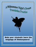 A Midsummer Night's Dream Translation Practice