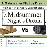 A Midsummer Night's Dream - Text to Film - Compare and Contrast Essay