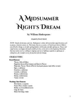 A Midsummer Night's Dream: The Play