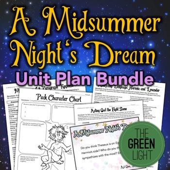 A Midsummer Night's Dream Unit Plan Bundle, Activities