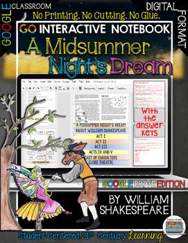 A MIDSUMMER NIGHT'S DREAM WILLIAM SHAKESPEARE INTERACTIVE DIGITAL NOTEBOOK