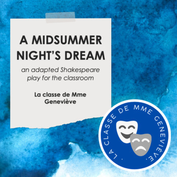 A Midsummer Night's Dream - elementary or middle school script