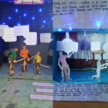 A Midsummer Night's Dream 3D Scene Analysis Project Diorama: Standards Based