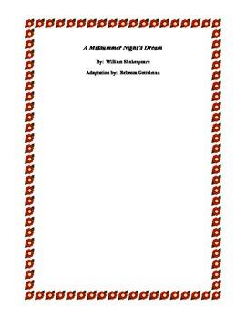 A Midsummer Night's Dream:  A Cutting for Performance:  26 Characters