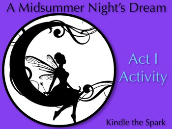 A Midsummer Night's Dream Act 1 Activity