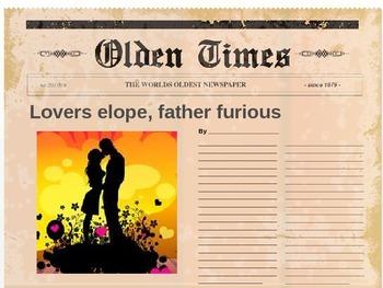 A Midsummer Night's Dream Activity (Headlines)