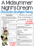 A Midsummer Night's Dream: Character Analysis, Five-Paragraph Essay