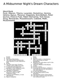 A Midsummer Night's Dream Crossword