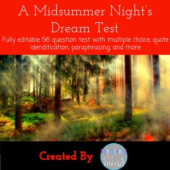 A Midsummer Night's Dream Final Play Test