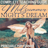 Midsummer Night's Dream Literature Guide Lesson Bundle, Complete Teaching Unit