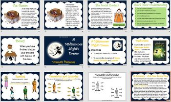 A Midsummer Night's Dream Powerpoint and worksheets teaching unit