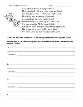 Pyramus And Thisbe Worksheets & Teaching Resources | TpT