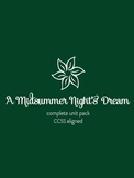 A Midsummer Night's Dream SUPER Unit Pack--Prereading through Exam! {CCSS}