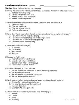 A Midsummer Night's Dream SUPER Unit Pack--Prereading through Exam! {CCSS}