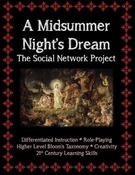 A Midsummer Night's Dream Social Network Project (Characte