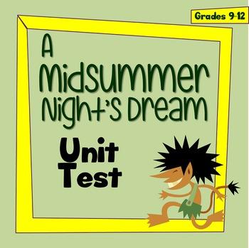 A Midsummer Night's Dream TEST