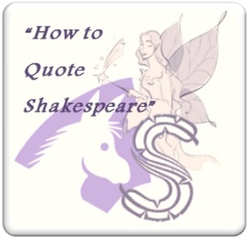 How to quote Shakespeare (A Midsummer Night's Dream) in an essay