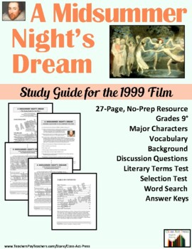 A Midsummer Night's Dream: Study Guide for the Film (26 P., Ans. Key Inc., $15)