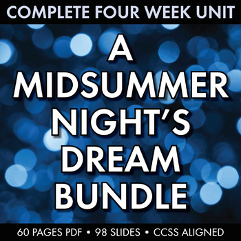 Midsummer Night's Dream Unit Plan, FIVE WEEKS of Beautiful