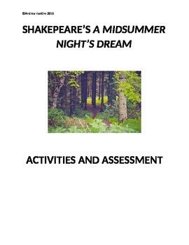 A Midsummer Night's Dream activities and assesment
