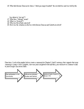 A Mighty Long Way Chapter 2 Pages 37 – 43 Text Dependent Questions
