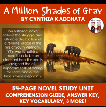 A Million Shades of Gray Novel Study Unit