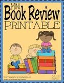 Mini Book Review Worksheet