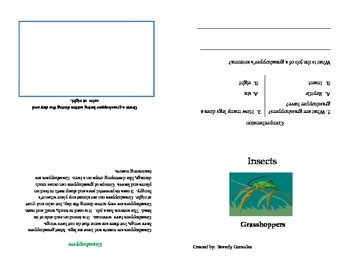 A Mini Booklet on Grasshoppers