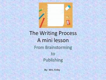 A Mini Lesson - The Writing Process