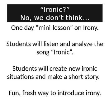 A Mini-Lesson on Irony